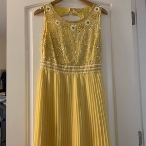 Yellow bridesmaid/dressy event dress